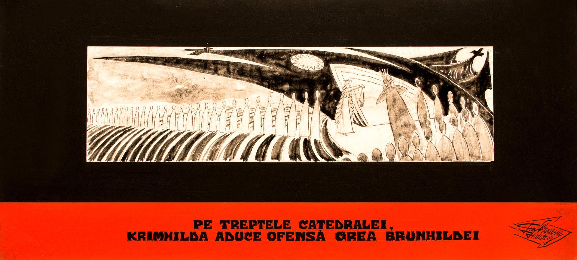 Pe treptele catedralei, Krimhilda aduce ofensă grea Brunhildei