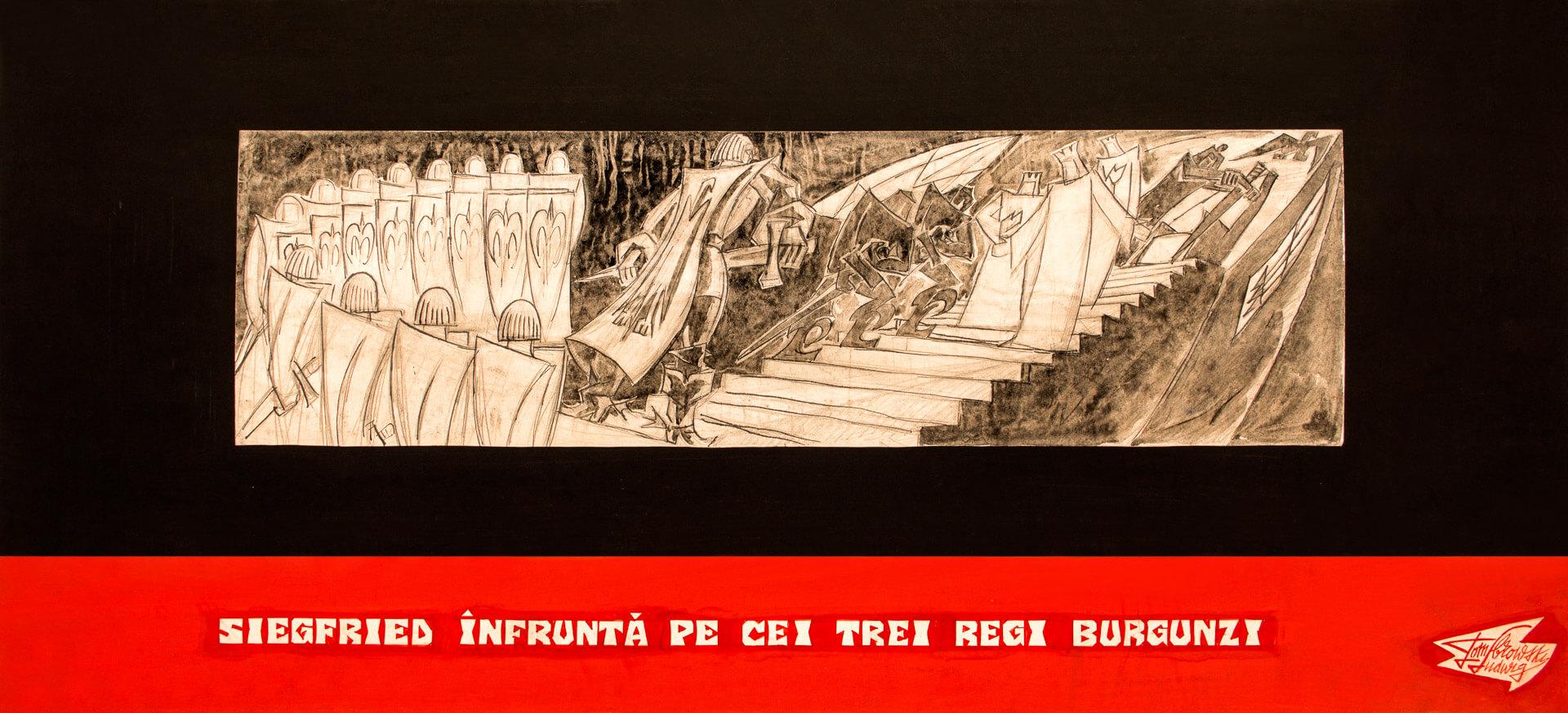 Siegfried înfruntă pe cei trei regi burgunzi