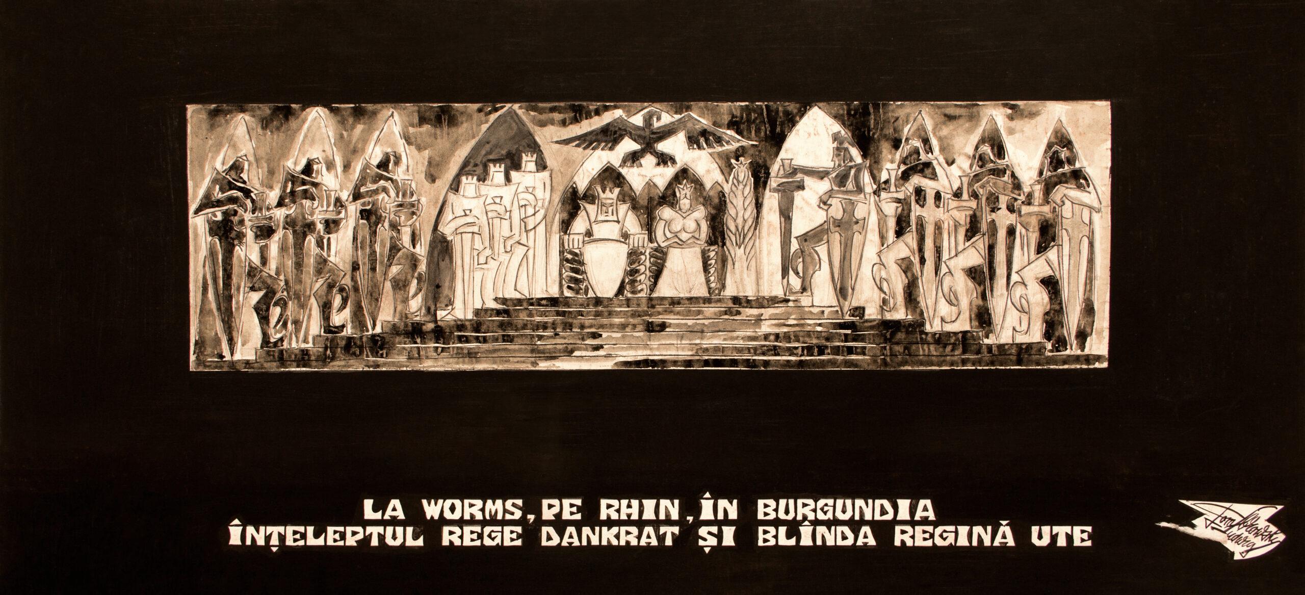 La Worms, pe Rhin, în Burgundia înțeleptul rege Dankrat și blîndă regină Ute