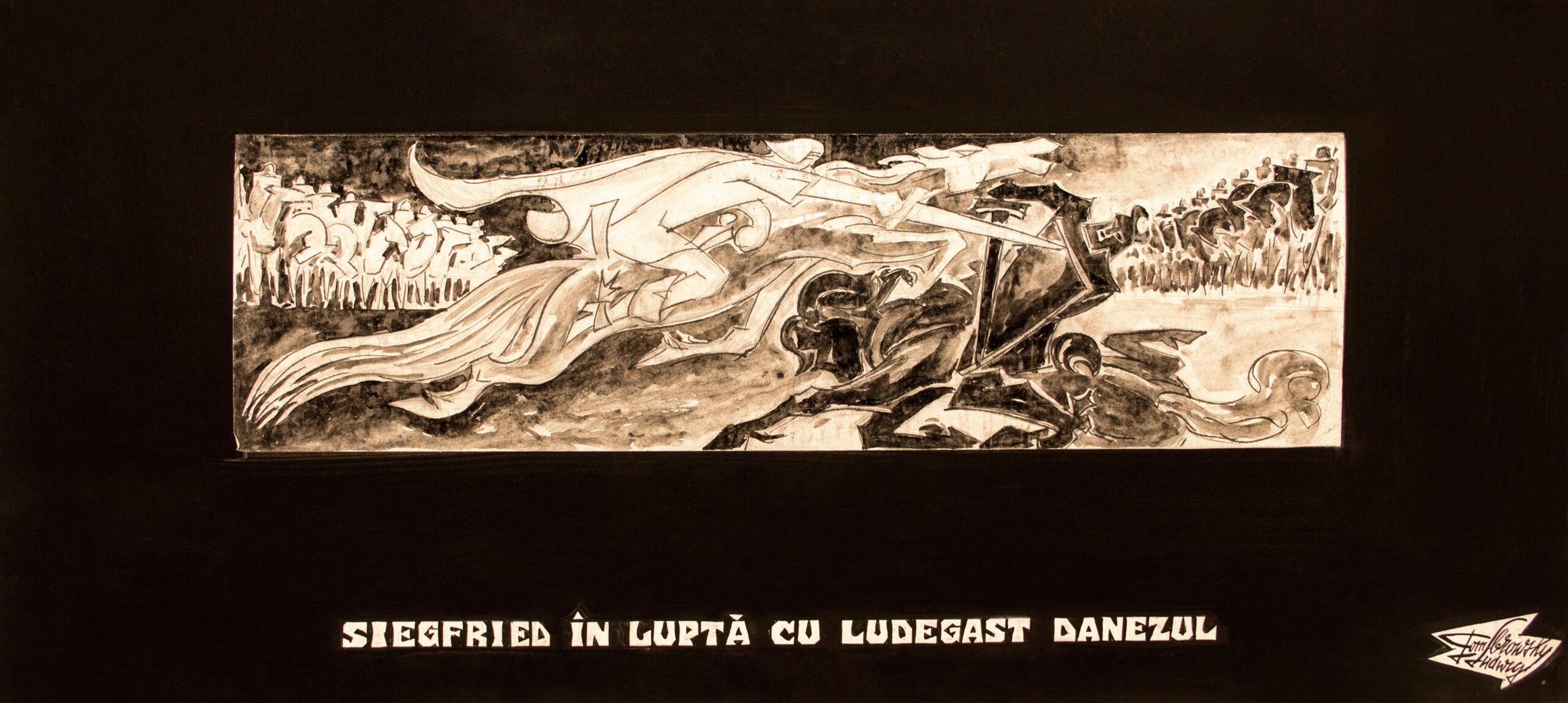 Siegfried în luptă cu Ludegast Danezul